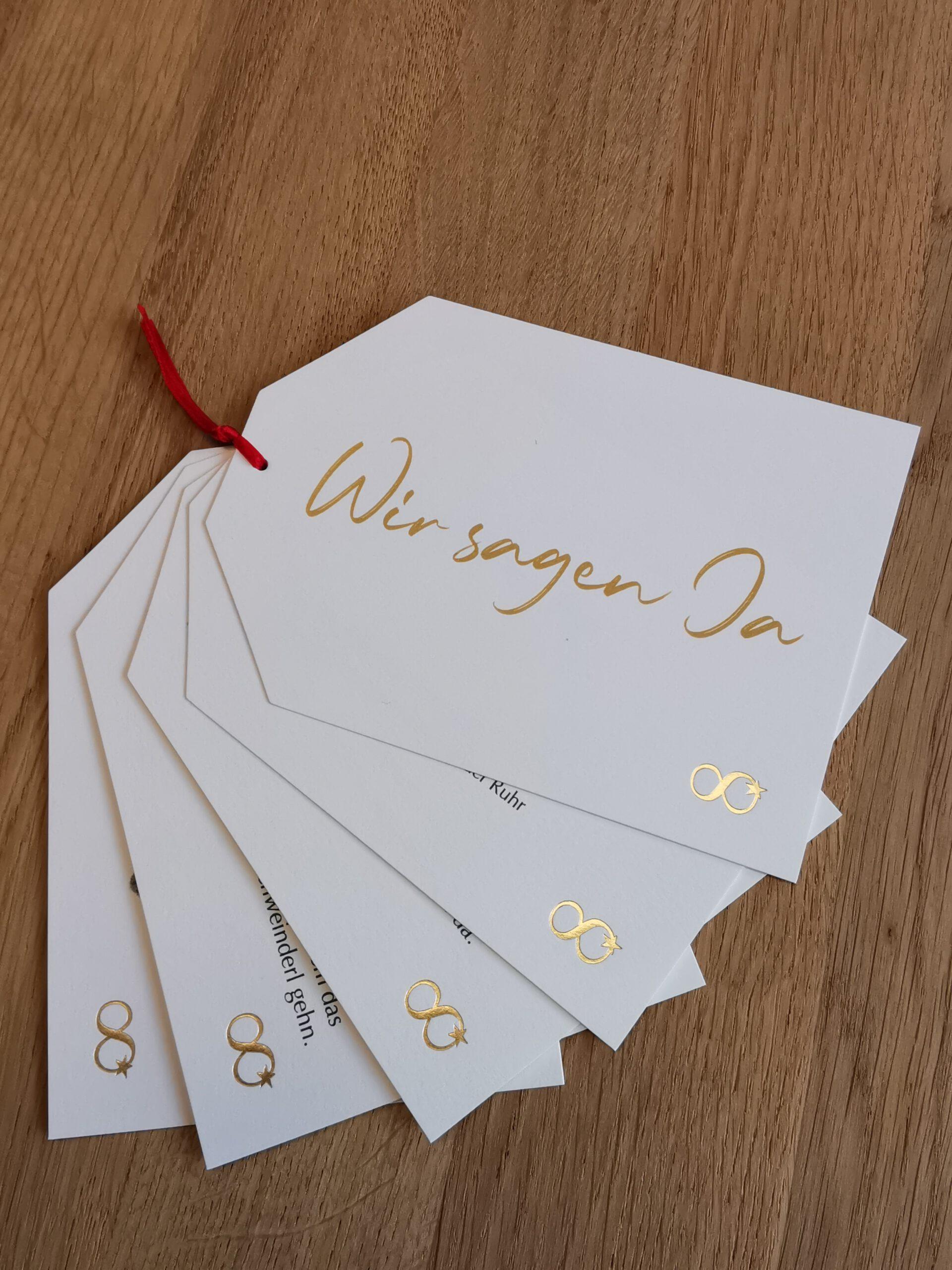 Hochzeitskarten Anhaengerset